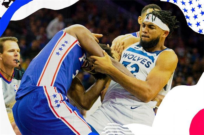 Pelea gigante en la NBA: Embiid y Towns desatan la mayor batalla jamás vista