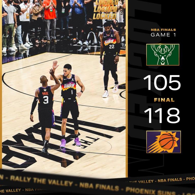Phoenix Suns 118-105 Milwaukee Bucks